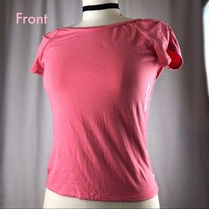Abercrombie & Fitch pink deep V back T-shirt sizeM